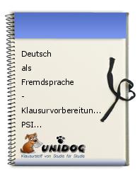 deutsch als fremdsprache klausurvorbereitung psi