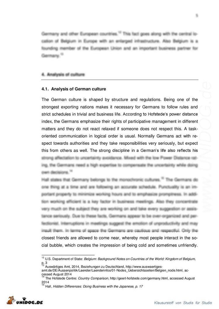an introduction to the analysis of german culture Keywords: communication, culture, interaction analysis, meetings, teams  groups and teams  and processes across two cultures: us american culture  and german culture  observing interaction: an introduction to sequential  analysis.