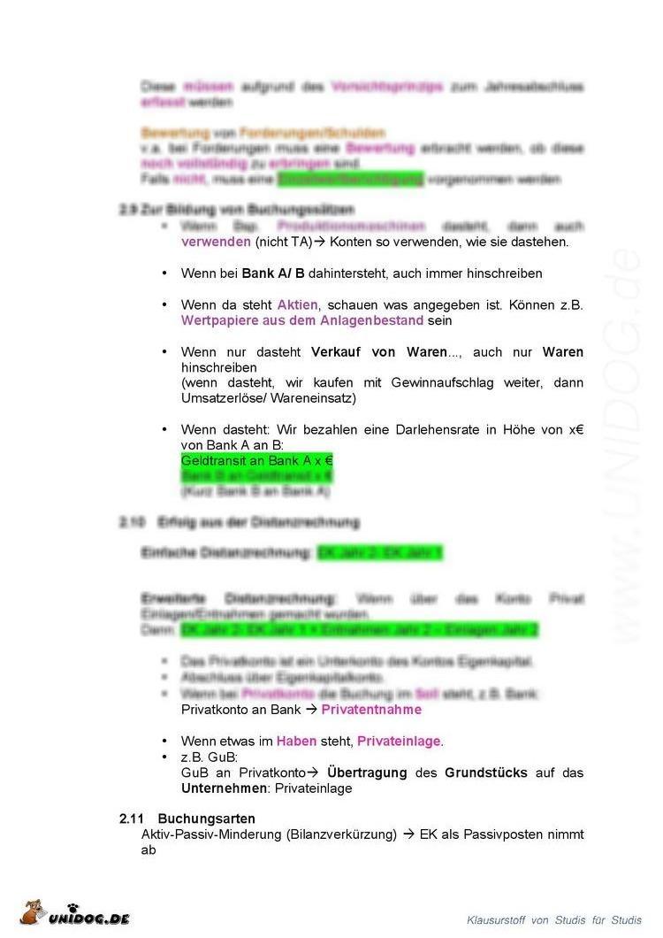 Großzügig Zusammenfassung Des Buchhaltungszusammenfassung Ideen ...