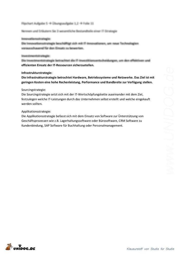 UNIDOG - IT-Management Zusammenfassung