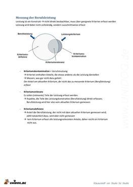 Zusammenfassung Arbeits- und Organisationspsychologie