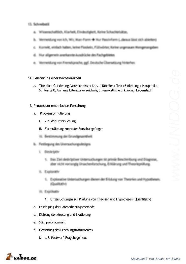 aufbau gliederung bachelor thesis In der art der präsentation (strukturierung, aufbau)  aus der gliederung des inhaltsverzeichnisses sollten die abgehandelten schwerpunkte ersichtlich werden.