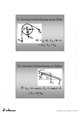Berechnungsbeispiel technische mechanik for Technische mechanik klausuraufgaben