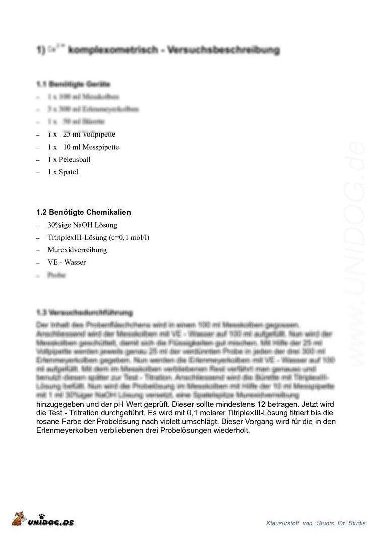 Protokoll chemie praktikum thesis polizei