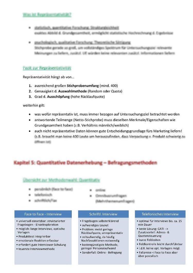 Marktforschung-Zusammenfassung