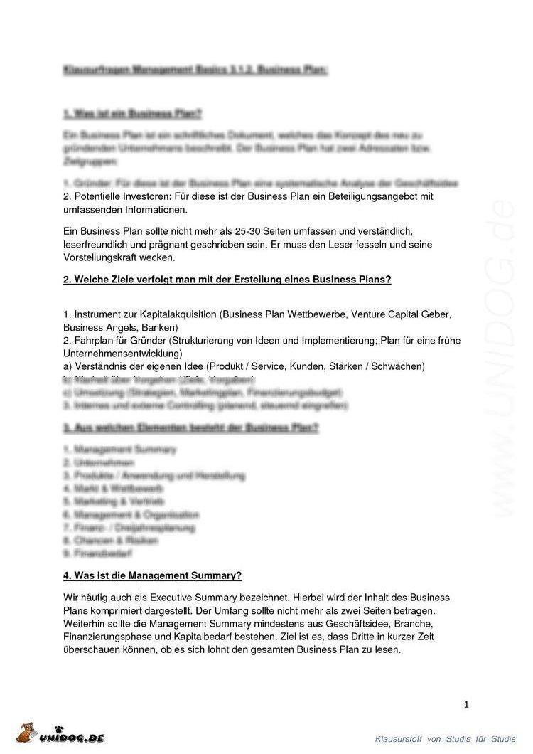 Atemberaubend Zusammenfassung Der Business Administration ...