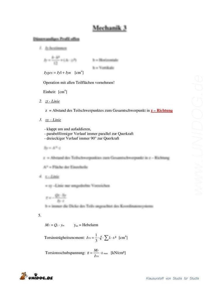 D nnwandiges profil vorgehensweise for Technische mechanik klausuraufgaben
