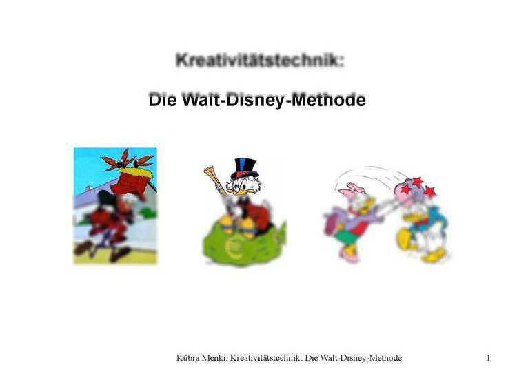 Pr 228 Sentation Walt Disney Methode