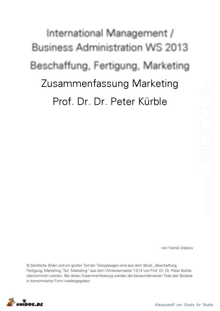 Großzügig Gute Marketingzusammenfassung Zusammenfassung Ideen ...