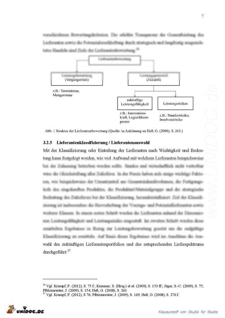 UNIDOG - Ziele und Aufgaben des strategischen Lieferantenmanagements